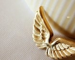 you are my angel. golden wing pin. a christmas collection.