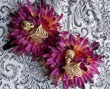 Skeletal Remains Among The Mums Gothic Hair Clip