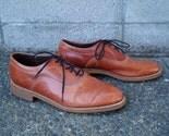 Vintage 1970s Dexter Mens Lace up Oxfords Honey Brown size 9