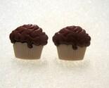 Chocolate Cupcake Post Earrings Nickel Free