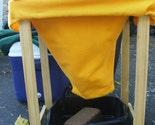 Cloth Worm Composting Bin Bag Eco Felt Navy and Yellow