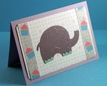 Sparkling Purple Elephant Baby Card