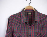 Men's Red Plaid Western Shirt . Size XL