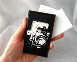 Retro Camera wood business card holder and display, MADE TO ORDER