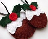 2 Christmas Pudding Ornaments