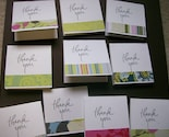 Set of 40 3x3 Mini Thank You Cards in Amy Butler Stripes