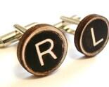 Custom wooden letter cufflinks