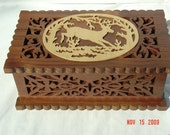 Scroll work jewelry box