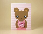 Teddy Bear Sweetie Gift Card featuring Badge