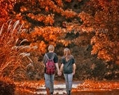 Last First Kiss  8 x 10 original art photograph POE Team Autumn Nature Trees
