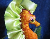 Breena, ooak sea horse art doll, ornament