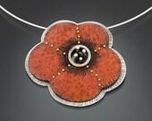 Poppy pendant/brooch