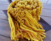 Bright Yellow Mustard Scarf - almost 6 feet long