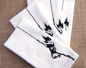 Cloth Table Napkins - Vintage Trapeze Lady  (Set of 4)