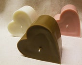 Heart  Handpoured Soy Pillar Candle