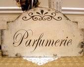 PARFUMERIE French shabby cottage chic sign