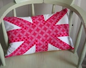 CANDY PINK UNION JACK PILLOW CUSHION