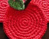 Red Apple Coasters Set of 4