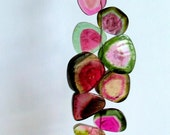 Succulent Rare Watermelon Tourmaline Slices-100 plus cts- STRAND C
