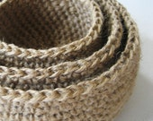 Nested Jute Bowls Set of 3