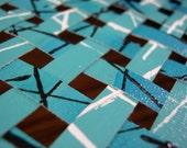 Blue Abstract Art Painting - Building Block 6 -  Original Handmade