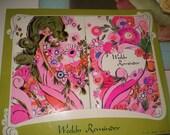 Mod 70s Day Planner Agenda Desk Calender Pink Vinyl