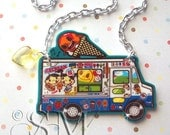 The Popsicle Parade - large charm necklace