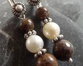 Chocolate Dream Jasper and Sterling Silver Earrings