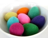 8 Wool Felted Eggs