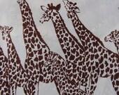African Queen Vintage 70's Safari Giraffe Print Caftan Goddess Gown, OSFA