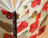 poppy sampler - blank coptic hardcover journal