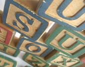Big Ol' Vintage Alphabet Letter Wood Blocks