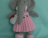 Ellie The Elephant (Hand Knitted)