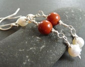 Tantalizing Fire and Ice Sterling Silver Earrings