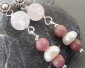 Dusty Rose Sterling Silver Earrings