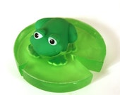 Lounging Frog on Lily Pad Soap