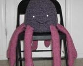 Opal the Octopus Hand Knit Stuffed Animal / Pillow