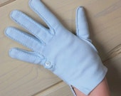 Vintage Petite Powder Blue Gloves - Hand Sewn