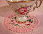 Prettily Pink Coaster for One --a pretty little place to set your cup