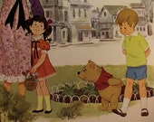 When We Were Very Young Album Cover with Winnie the Pooh Illustrations and Poems Walt Disney 1968