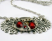 Steampunk Fashion Necklace fashioned with a Gorgeous Vintage Watch Movement
