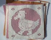 FABRIC Lace Squares SET OF 4 Scrapbook Card Destash PIF FREE SHIPPING