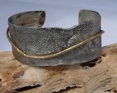 Textured sterling silver bracelet