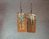 Handcrafted mixed metal dangle earrings