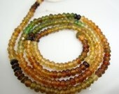 6 1/2  Inch Strand AA Petrol Tourmaline Micro Faceted Rondelles