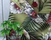 Handmade Hawaiian Barkcloth Slouch Bag by fortheloveofpete on Etsy