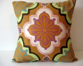 16 Inch Square - Pillow Cover - Cushion Cover - Pillowcases Purple - Pink - Mustard Orange - Yellow - Brown