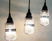 Orrington III. TRIO of Industrial Lights with Canopy