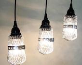 Orrington III. TRIO of Industrial Lights with Canopy