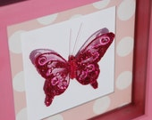 Unique Wall Art - Butterfly in Pink